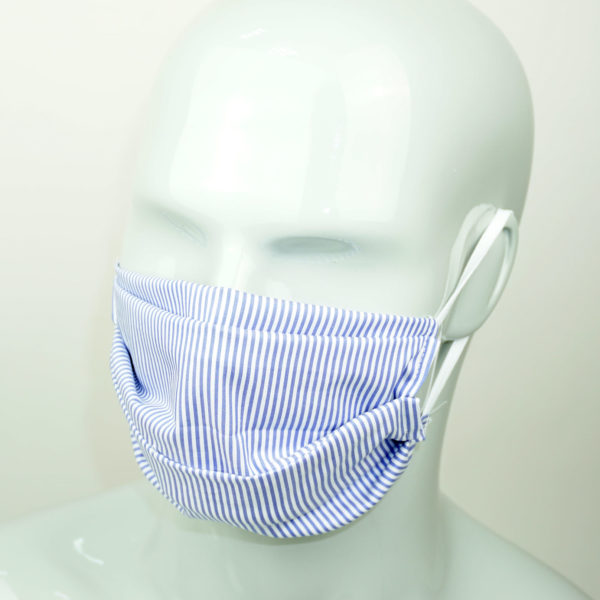 2-layer, rectangular antibacterial cotton mask with silver fibers and a special filter pocket